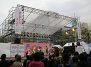 旅まつり名古屋2014のステージイベントの様子