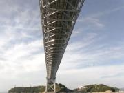 瀬戸大橋の真下ほぼ真下からのショット。