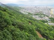 須磨浦ロープウェイより一の谷越しに神戸市街地が望めます。