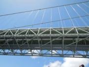 明石海峡大橋を下から覘く