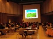 説明会の様子 米山公啓先生のクルーズの楽しみ方の講演もありました。