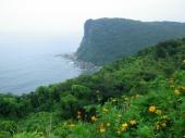 蕨展望所より東シナ海を望む