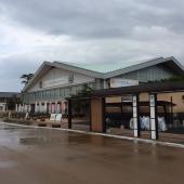 萩市役所前の大河ドラマ館